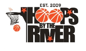 hoops by the river logo